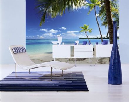 Carribean sea & beach non woven wallpaper